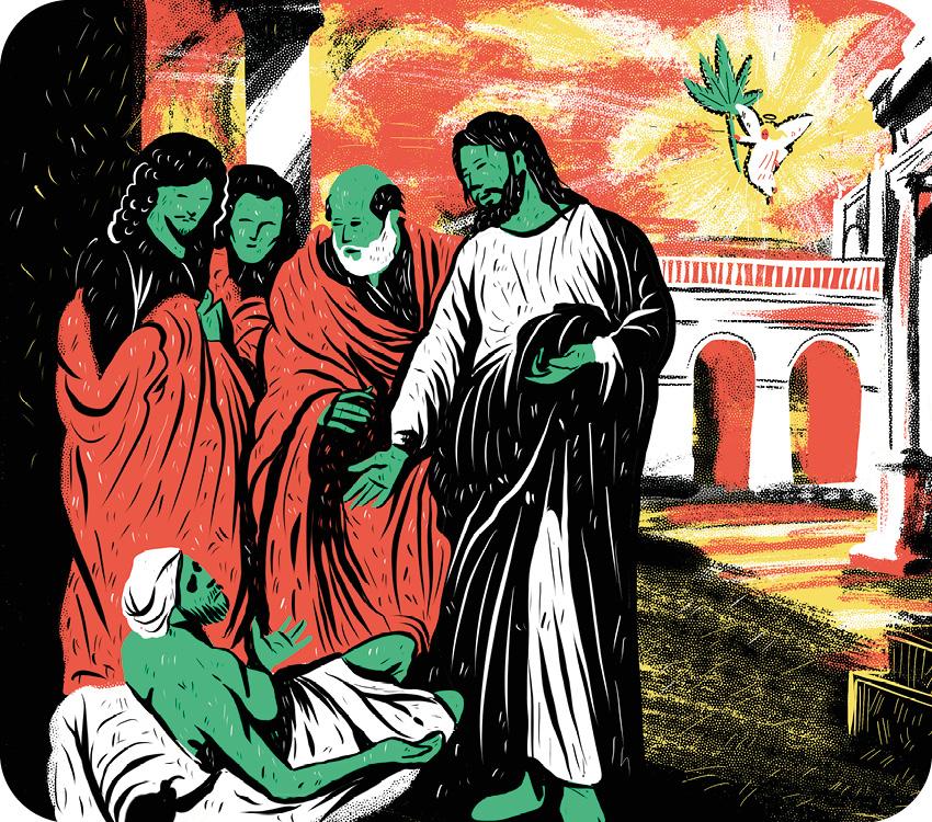 Jesus curando com a cannabis.